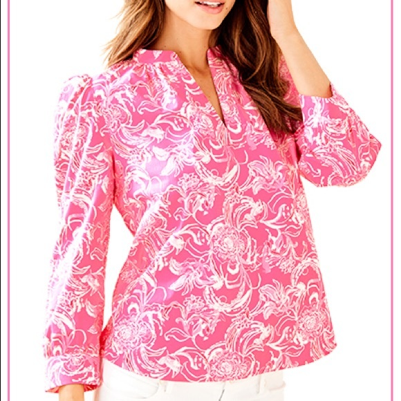 Lilly Pulitzer x Goop Paltrow Blouse L NWT